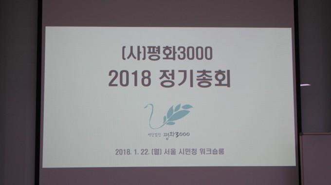 [평화삼천] 2018년 정기총회 개최