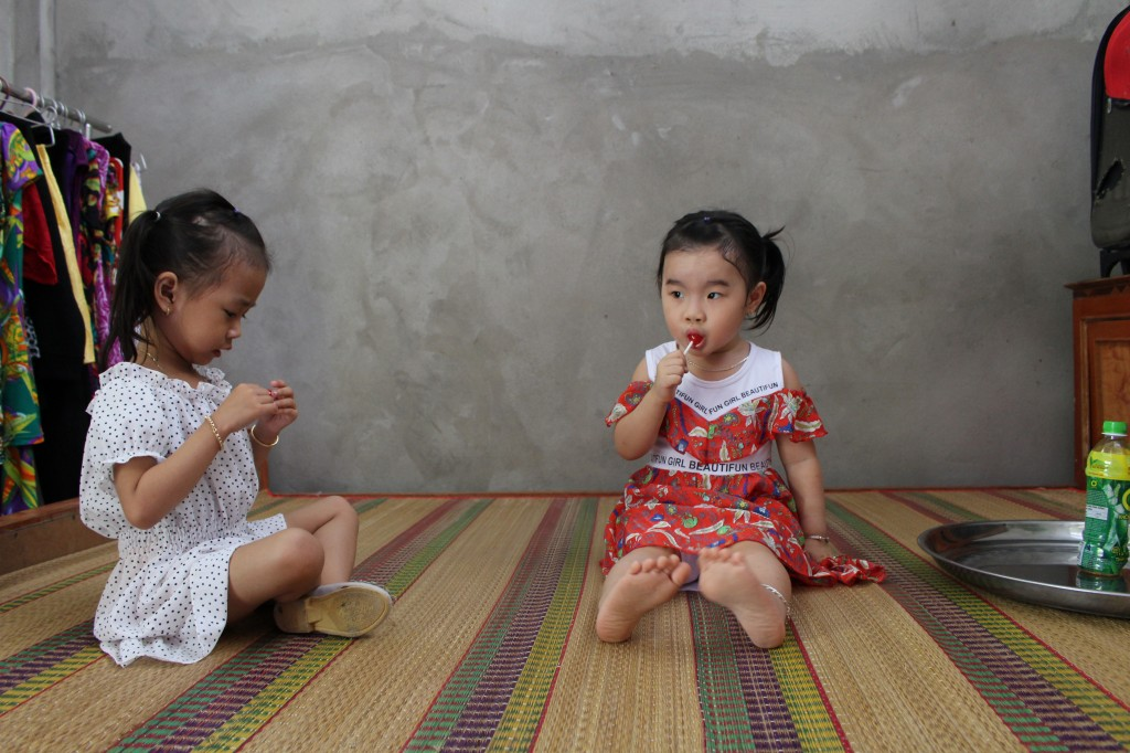 '사랑의 집'에서 즐거운 시간을 보내는 아이들